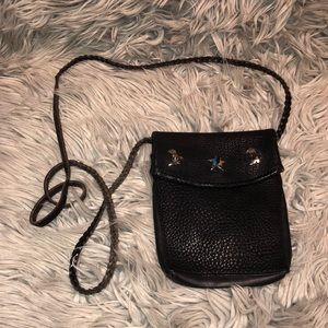 Vtg leather crossbody purse cowboy western